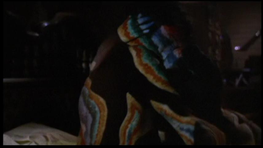 Figure 23: Complex illumination patterns affect the figures' unity. THE TRIP (Roger Corman, USA 1967). DVD screenshot.